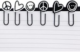 Peace Love World I am Paper Clips