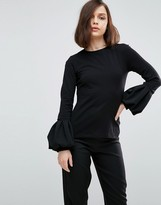 Asos Top With Pretty Bell Sleeve
