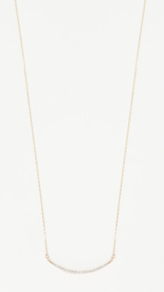 Adina 14k Gold Large Pave Curve Necklace