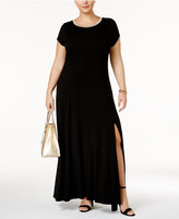 MICHAEL Michael Kors Size Cap-Sleeve Maxi Dress