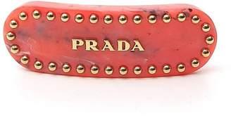 Prada Logo Hair Clip