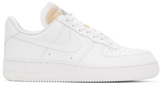 Nike White Bling Air Force 1 07 LX Sneakers