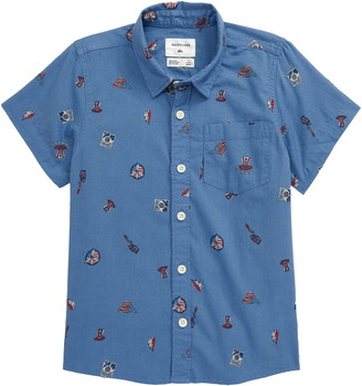Quiksilver 4th of July Short Sleeve Button-Up Shirt
