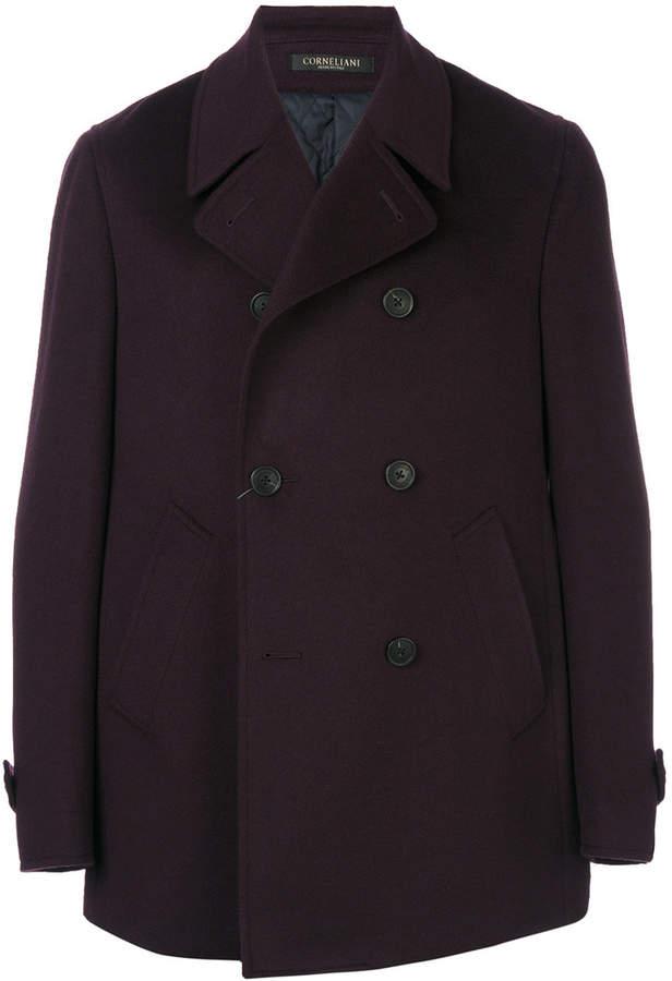 Corneliani double-breasted short coat