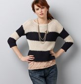 Wide Stripe Boat Neck Sweater