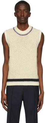 Maison Margiela Off-White 5 Gauge Vest