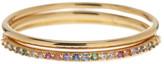 Gorjana CZ Shimmer Bar Stacked Rings - 3-Piece Set - Size 7