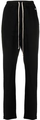 Rick Owens Drawstring-Fastening Cotton Track Pants