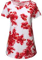 Classic Women's Art T-shirt-Jet Black Floral