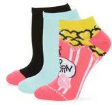 Betsey Johnson Six-Pack Popcorn and Pretzel Low Cut Socks
