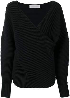 Victoria Victoria Beckham drape front sweater