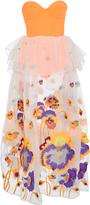 Yuliya Magdych Pansies Embroidered Top And Skirt Set