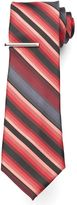 Apt. 9 Big & Tall Extra-Long Landslide Striped Tie with Tie Bar