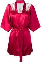 Fleur of England lace trim kimono - women - Silk/Polyamide/Polyester/Spandex/Elastane - M