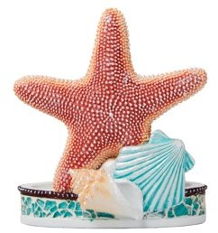 SKL Home South Seas Toothbrush Holder, Turquois