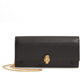 Alexander McQueen Skull Leather Wallet on a Chain