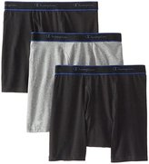 Champion Men's 3-Pack Performance Cotton Regular Leg Boxer Briefs