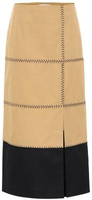Gabriela Hearst Lyssa herringbone-cotton midi skirt
