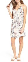 Lush Women's Floral Print Ruffle Fit & Flare Dress