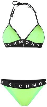 John Richmond Damyean logo-print bikini