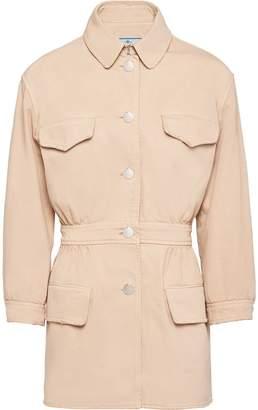 Prada fitted waist buttoned denim jacket