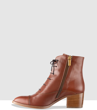 Habbot. Women's Brown Heeled Boots - Grind Lace-Up Boots - Size One Size, 40 at The Iconic