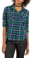 Volcom Women's New Flame Plaid Flannel Shirt