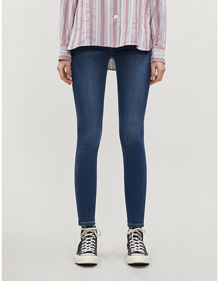 7 For All Mankind Aubrey Slim Illusion skinny high-rise jeans