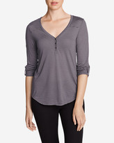 Eddie Bauer Women's Mercer Knit Henley Shirt - Stripe