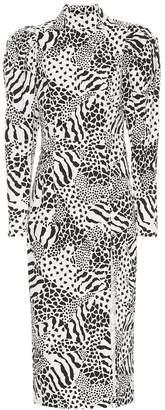 Rotate by Birger Christensen Theresa cotton-blend midi dress