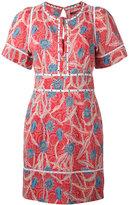 Isabel Marant printed Umbria dress - women - Cotton/Silk/Brass/Acrylic - 36