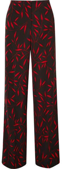 Diane von Furstenberg 印花平纹针织阔腿裤