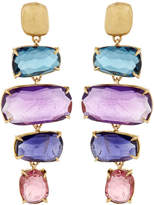 Marco Bicego Murano 18k Four-Drop Multi-Gemstone Earrings