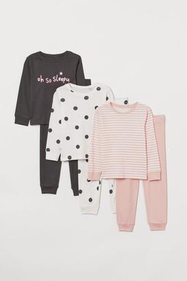 H&M 3-Pack Jersey Pyjamas