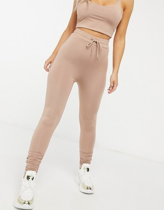 Love & Other Things high waisted leggings in camel
