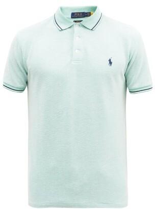 Polo Ralph Lauren Slim-fit Cotton-blend Pique Polo Shirt - Light Green