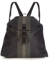 Bottega Veneta Tri-colour Intrecciato Leather Backpack