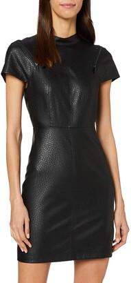 Armani Exchange Women's Eco Leather Zip Dress