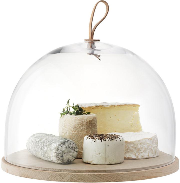 LSA International Ivalo Cake/Cheese Dome & Ash Base - 32cm Dia.
