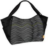 Lassig Casual Twin Zigzag Diaper Bag in Black/White