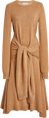 J.W.Anderson Tie-Detailed Merino Wool Midi Dress