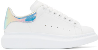 Alexander McQueen White and Multicolor Oversized Sneakers