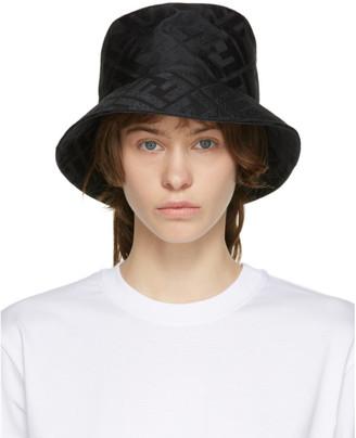 Fendi Black Silk Forever Bucket Hat