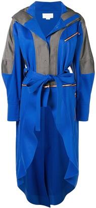 Esteban Cortazar Zipped Belted Raincoat