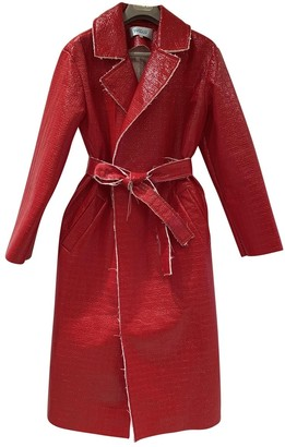 Walk of Shame Red Trench Coat for Women