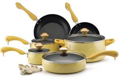 Paula Deen 15-pc. Nonstick Signature Porcelain Cookware Set, Butter