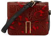 Hayward Mini H Tooled Leather Crossbody Bag