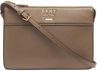 DKNY Ava Leather Top-Zip Crossbody