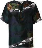 Kenzo zip detail blouse