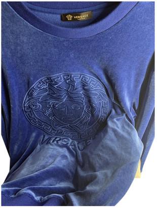 Versace Blue Synthetic Knitwear & Sweatshirts